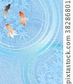金魚 漣漪 波紋 38286801