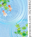 金魚 漣漪 波紋 38286802