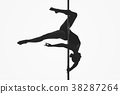 beautiful pole dancer girl silhouette 38287264