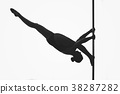 beautiful pole dancer girl silhouette 38287282