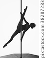 beautiful pole dancer girl silhouette 38287283