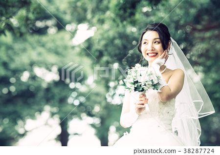 Wedding dress women bridal bride 38287724