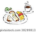 breakfast, brush writing, western food 38289813