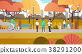 park, people, vector 38291200