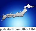 일본지도 38291366