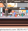 Railway Station Platform With Passengers Waiting 38291437