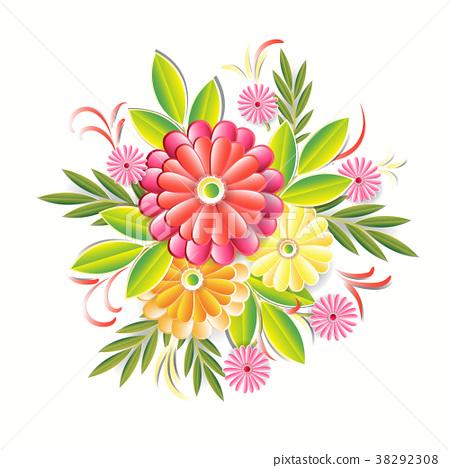 Beautiful Flowers Isolated On White Background 38292308