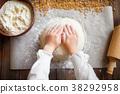 dough, flour, hand 38292958