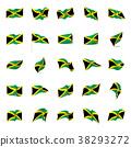 Jamaica flag, vector illustration 38293272