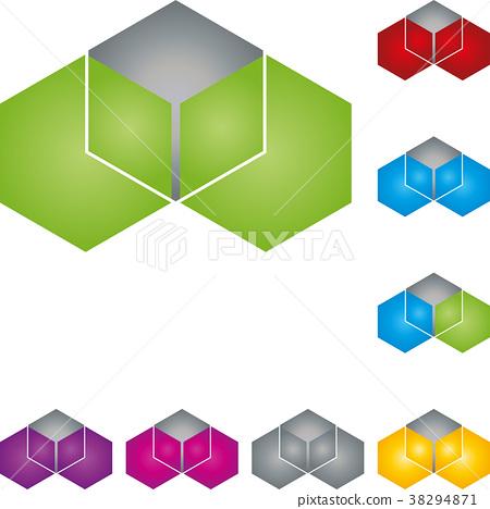 Hexagon, cube, geometry, data, technology, logo 38294871