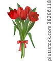 red tulips bouquet 38296118