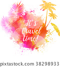 Abstract watercolor travel banner 38298933