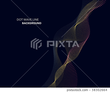 Elegant abstract vector dot wave line futuristic 38302664