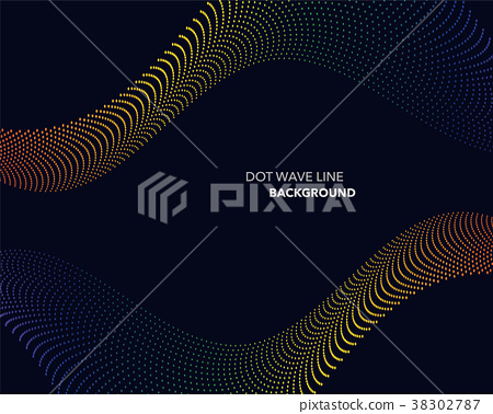 Elegant abstract vector dot wave line futuristic 38302787