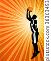 basketball player on the abstract background 38303453