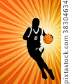 basketball player on the abstract  background 38304634