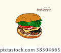 hamburger, burger, food 38304665