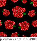 Red roses seamless pattern.  38304909