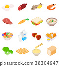 Food icons set 38304947