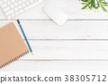 平鋪式構圖 桌子 辦公桌 38305712