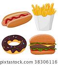 甜甜圈 热狗 食物 38306116