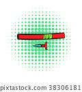 Ninja weapon icon, comics style 38306181