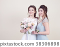 two adorable women wearing in long fashionable 38306898