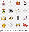 Wedding set icons 38306935