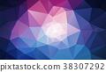 vector polygonal background aurora 38307292
