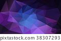 vector polygonal background night galaxy 38307293