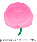Peony icon, cartoon style  38307952