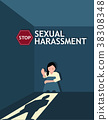 Sexual harassment poster with girl 38308348