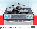 Electric slide-in convection range with pot 38308883
