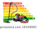 Energy efficiency chart with vacuum cleaners 38308885