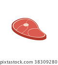 Meat icon, isometric 3d style 38309280