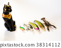 Fishing wobblers and lure on a white background 38314112