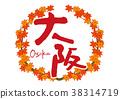 osaka, maple, yellow leafe 38314719