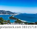 Amanohashidate winter snow scene 38315718