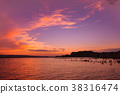 鮑威爾湖 日落 夕陽 38316474