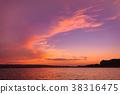 鮑威爾湖 日落 夕陽 38316475
