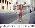 summer female casual street style outfit with bag 38317088