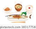 생선 구이, 꽁치, 요리 38317758