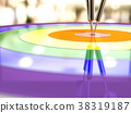 Darts hitting in the target, LGBT concept 38319187
