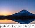 """""""야마나시 현""""후지산 · 精進湖의 해돋이 38320075"""