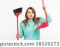 broom, housework, female 38320273