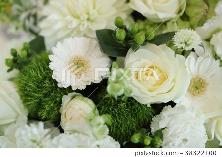 테이블 꽃 장식 흰색 기조 2 38322100