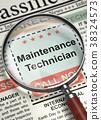 Maintenance Technician Wanted. 3D. 38324573