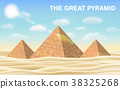 the great pyramid of giza in desert 38325268