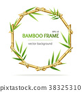 Realistic 3d Detailed Bamboo Shoots Circle Frame 38325310