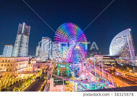 横滨 未來港 夜景 38325678